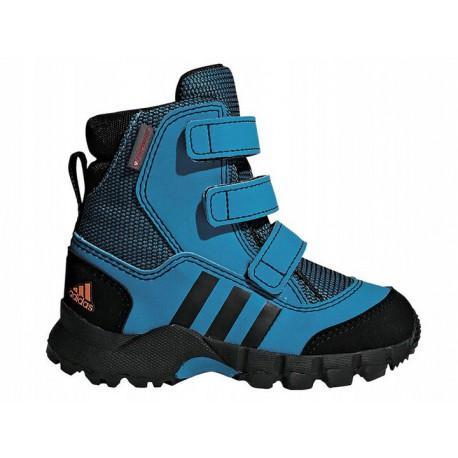 zniżki z fabryki ekskluzywne buty rozmiar 7 BUTY dziecięce ZIMOWE ADIDAS HOLTANNA (D97659) śniegowce ciepłe dla dzieci  niebieskie
