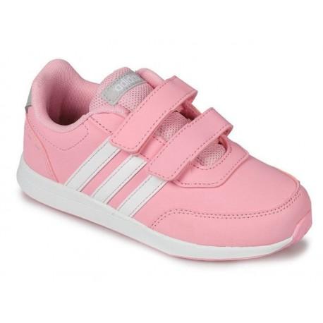 BUTY dziecięce ADIDAS VS SWITCH (F35694) różowe dla dziecka na rzepy