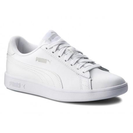 BUTY PUMA SMASH V2 męskie 365215 07 skórzane białe sportowe