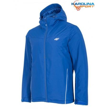 KURTKA ZIMOWA 4F blue (KUMN001) kobalt NARCIARSKA